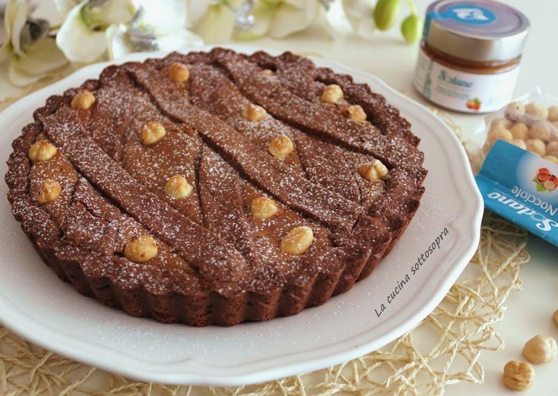crostata al cacao e nocciole