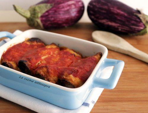 Involtini di melanzane fritte – parmigiana finger food