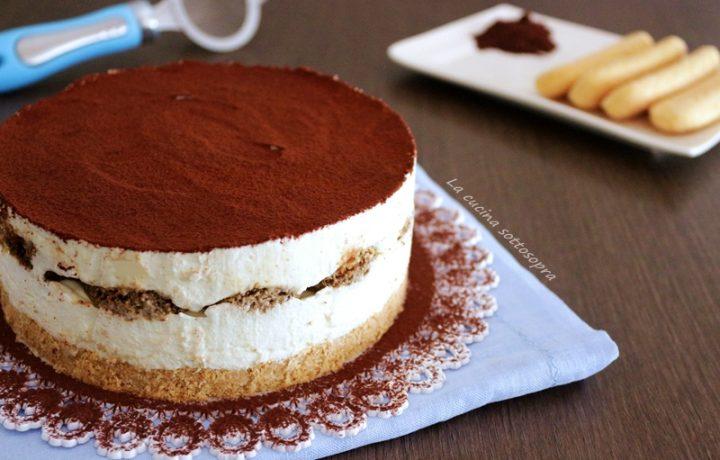 Cheesecake tiramisù con ricotta di bufala
