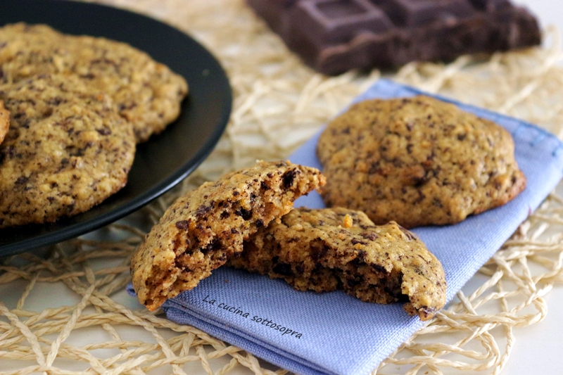 biscotti morbidi zucca arancia e cioccolato fondente