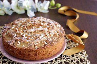 torta pere e mandorle light con e senza bimby
