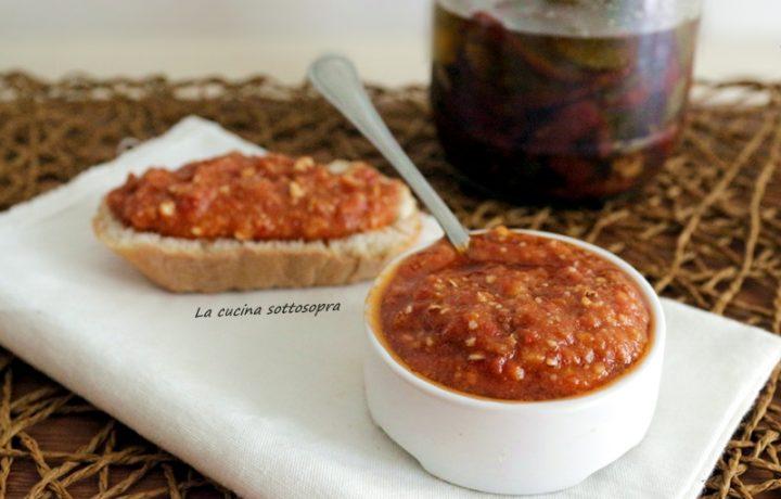 Pesto di pomodori secchi con Bimby e senza