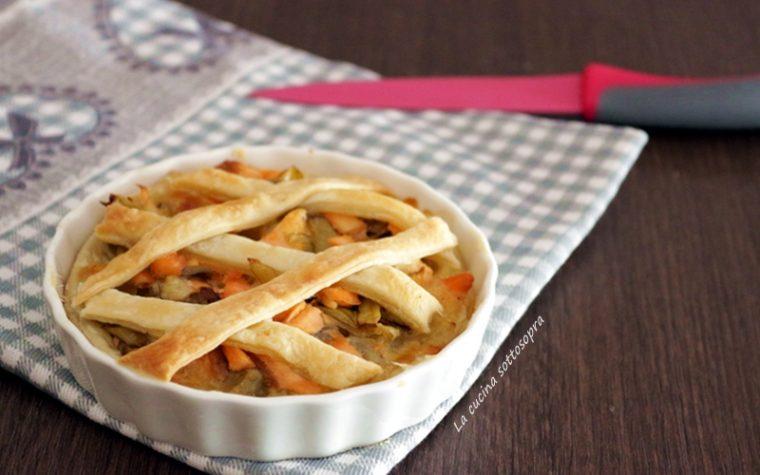 Crostata salata carciofi e salmone