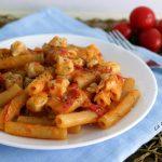 Pasta risottata con pollo e pomodorini - con e senza Bimby