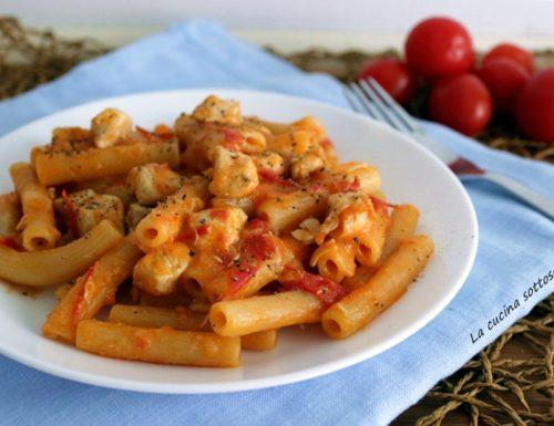 Pasta risottata con pollo e pomodorini – con e senza Bimby