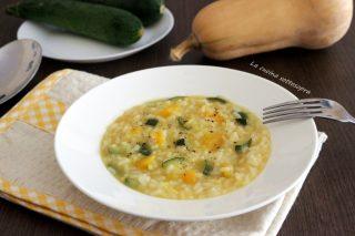 risotto con zucca e zucchine con bimby
