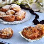 Frittelle di ricotta arancia e uva passa