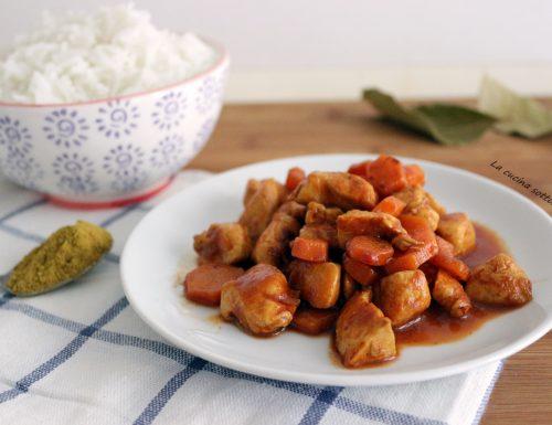Pollo curry e carote – ricetta light