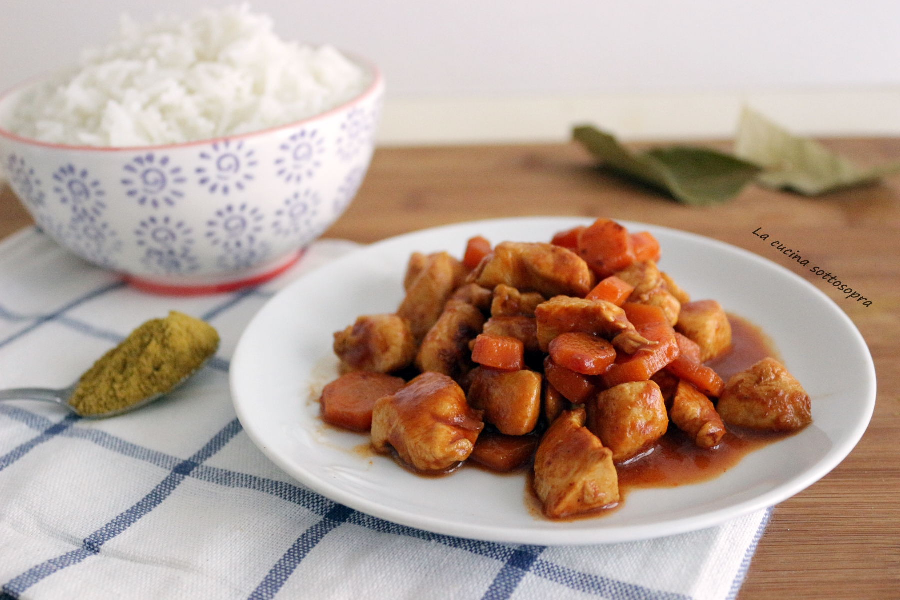 Pollo curry e carote - ricetta light