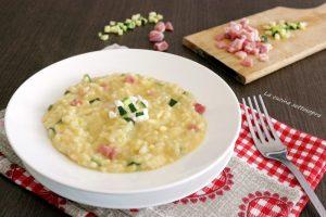 risotto zucchine pancetta e philadelphia