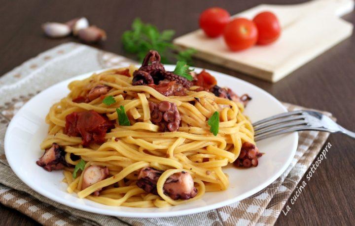 Pasta al polpo – primo piatto facile