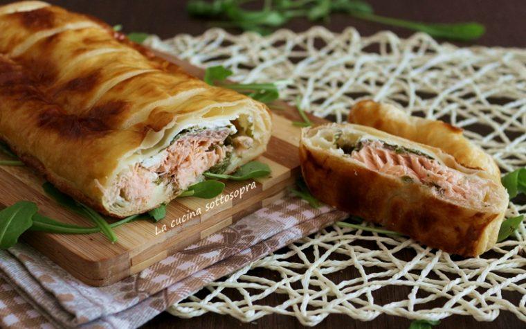 Salmone in crosta con rucola e philadelphia