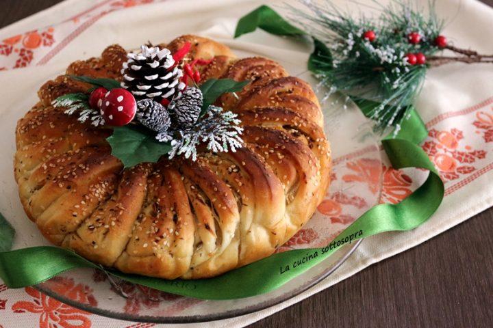 corona di pane alle cipolle