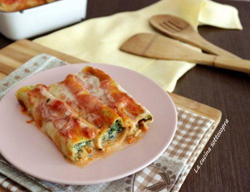 Cannelloni ricotta e spinaci – primo piatto facile