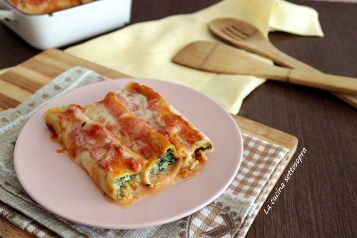 Cannelloni ricotta e spinaci - primo piatto facile