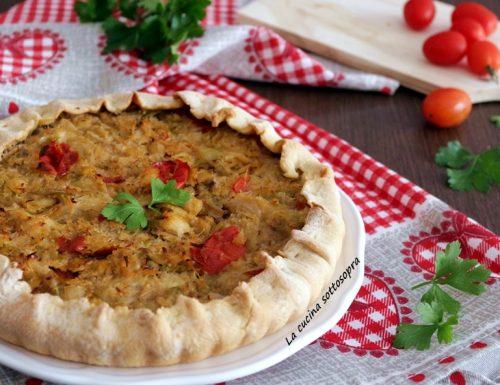Torta salata baccalà e porri