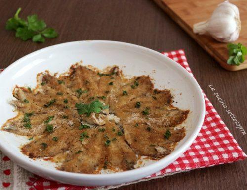 Alici ammollicate – secondo piatto facile