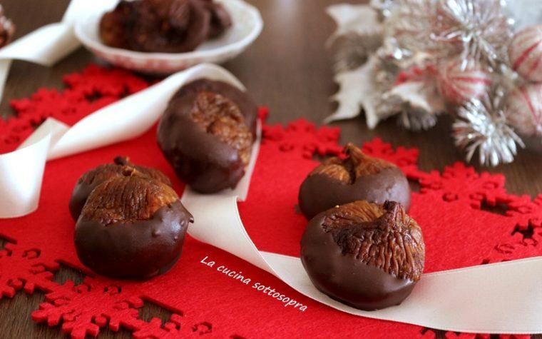 Fichi secchi mandorlati al cioccolato – ricetta natalizia