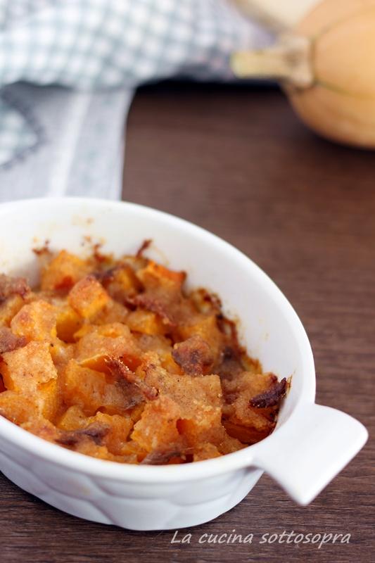 zucca gratina al forno con le alici ricetta