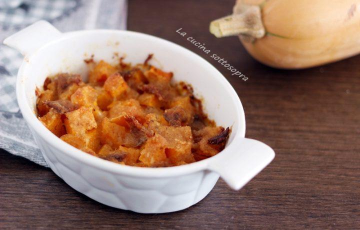Zucca gratinata al forno con le alici