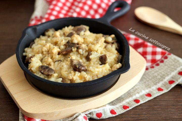 risotto pollo e funghi ricetta