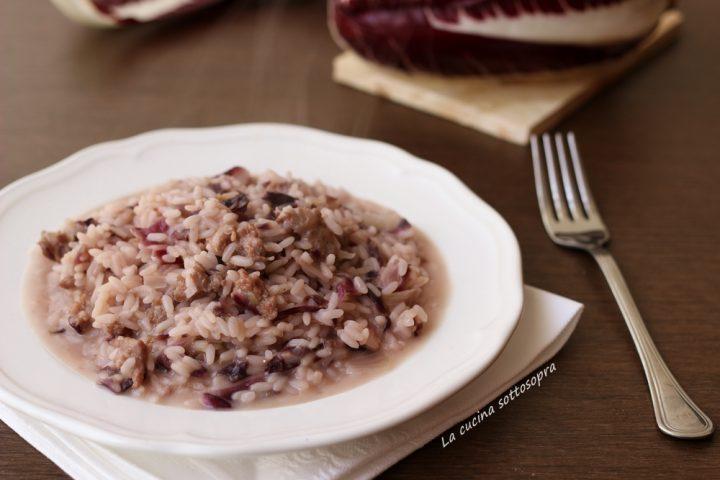 risotto radicchio e salsiccia ricetta