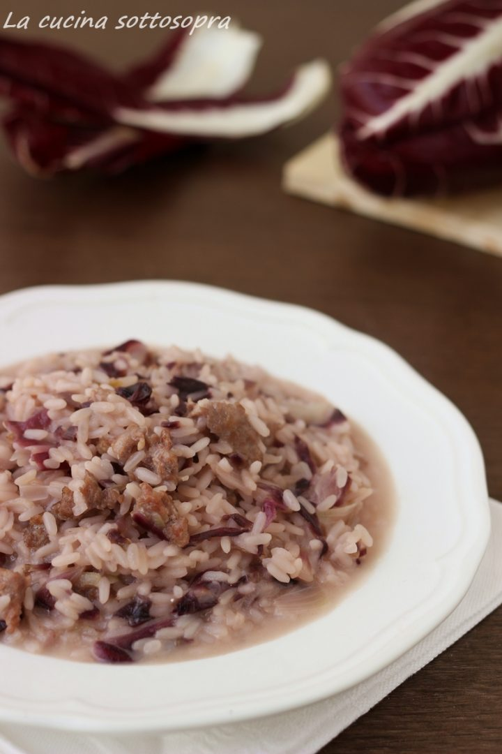 risotto radicchio e salsiccia