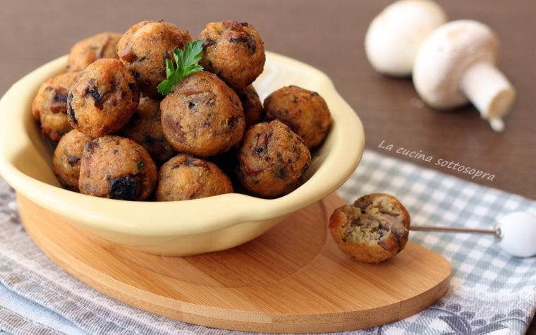 Polpette di pane e funghi – ricetta del riciclo