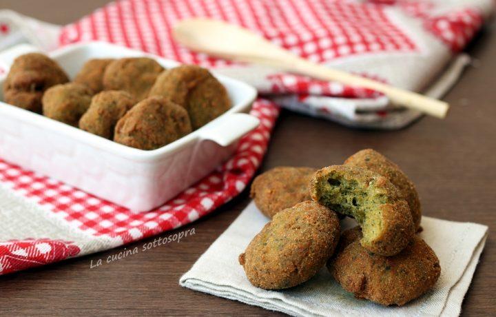 Polpette bietole e mozzarella fritte o al forno