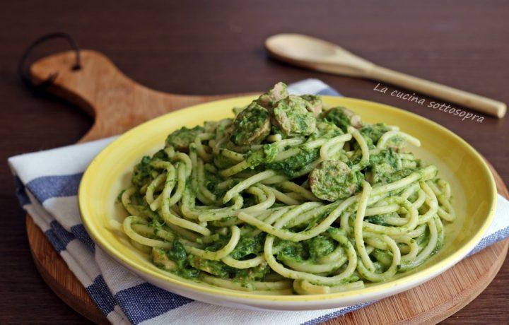 Spaghetti cremosi rape e salsiccia