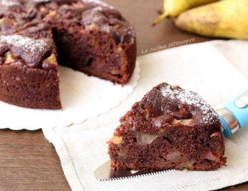 Torta cacao e pere al mascarpone