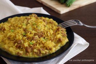 risotto salsiccia porri e zafferano ricetta