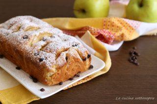 plumcake mele e gocce di cioccolato bimby ricetta