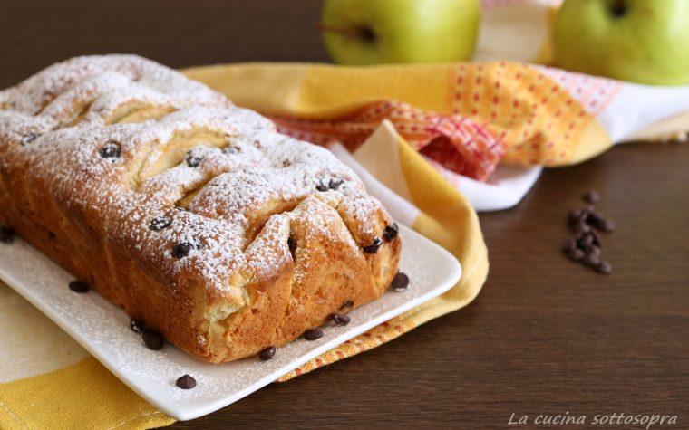Plumcake mele e gocce di cioccolato Bimby