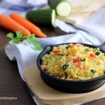 Cous cous vegetariano con verdure saltate
