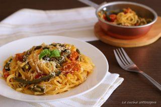 linguine con fagiolini e ricotta salata ricetta