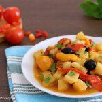 Peperonata con patate - contorno facile e veloce
