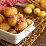 patate ubriache alla pancetta- patate novelle al vino rosso e pancetta