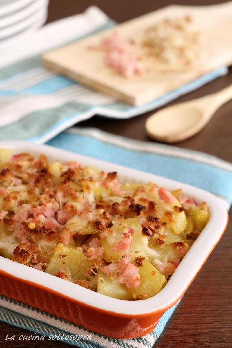 patate rosticciate al prosciutto