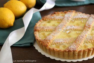 crostata di ricotta al limone con frolla all'olio