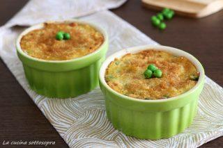 tortini di patate con piselli e prosciutto ricetta