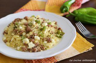 cous cous con salsiccia e peperoni ricetta