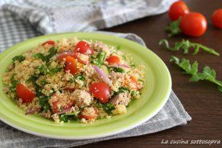 cous cous con tonno pomodorini e rucola ricetta