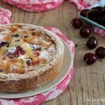 Crostata con clafoutis di ciliegie