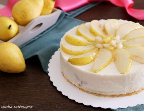Torta fredda ricotta e pere – senza cottura