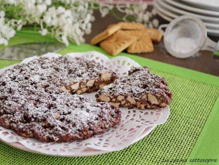 Torta Croccante Biscotti E Cioccolato Senza Cottura La Cucina
