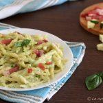 Trofie con crema di zucchine e speck