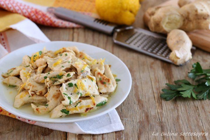 straccetti di pollo zenzero e limone ricetta