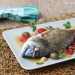 Orata al forno con le olive - ricetta light