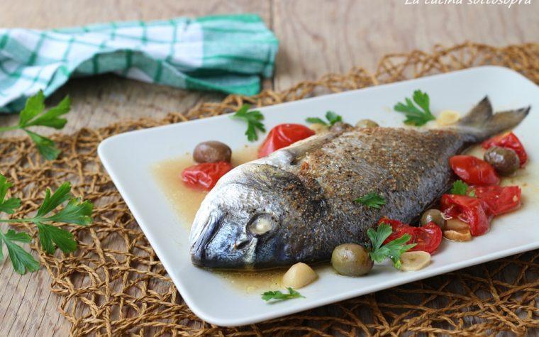 Orata al forno con le olive – ricetta light